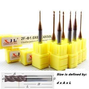 Long Leg Mill Tool Set 1.5mm Dia Carbide Endmill CNC Parts -HRC55 mill-bit x5pcs