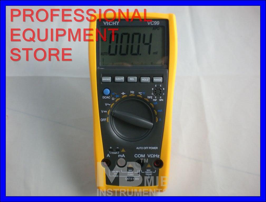VC99 3 6/7 Auto range DMM Digital Multimeter with Analog Bar - Voltmeter Ohmeter