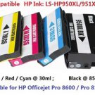 HP Pro8100 Pro8600 Compatible Printer Ink Set 950XL 951XL Black & 3 Colors 4Pack