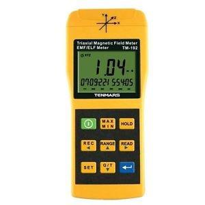 3 Axis Triaxis Gaussmeter EMF ELF Magnetic Field Meter TM-192 Tenmars