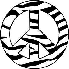 Zebra Peace Vinyl Decals (2)