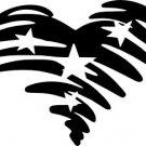 Patriotic Vinyl Heart Decal (2)