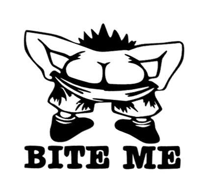 Bite Me Vinyl Decal