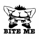 Bite Me Vinyl Decal