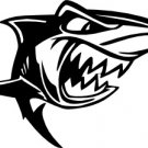 Cartoon Shark Vinyl Decal