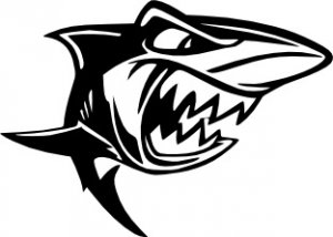 Cartoon Shark Vinyl Decal
