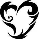 Tribal Heart Vinyl Decals (2)