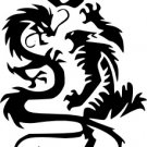 Tribal Dragon and Tiger Vinyl Decal