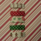 Set of 5 Christmas Holiday Snap Hair Clips