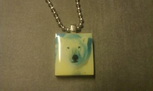 Polar Bear Scrabble Tile Necklace