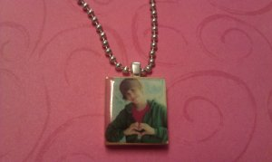 Justin Bieber Heart Scrabble Tile Necklace