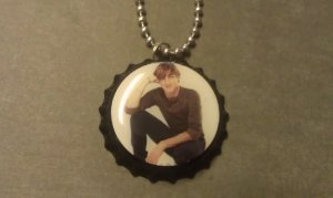 Kendall Big Time Rush Bottle Cap Necklace