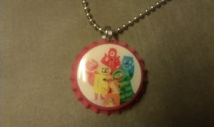 Yo Gabba Gabba Bottle Cap Necklace