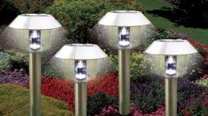Stainless Steel Hut Solar Lights Set Of 4 Pcs
