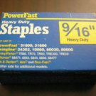 "Powerfast 9/16"" Heavy Duty Staples Staple - 1000 Count Box"