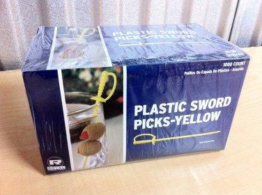1000 Count Yellow Royal Plastic Sword Picks Toothpicks