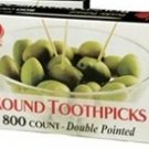 Goldmax Round Wood Wooden Toothpicks 800 Count Box