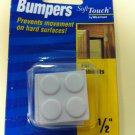 "Waxman SoftTouch 1/2"" Self-Stick Bumpers"
