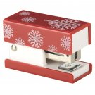 Swingline Mini Fashion Stapler with 1000 Standard Staples - Red with Snowflakes