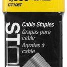 "Stanley CT106T Cable (Round Crown) Staples 3/8"" 10mm 1000 Count Pack"