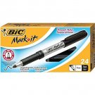BIC Clic Stic Retractable Ballpoint Pens, Medium Point, Black Ink, 24/Pack