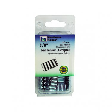 """Corrugated Joint Fasteners 3/8"""" - Zinc-plated, Pack of 30"""
