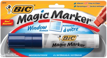 BIC Jumbo Magic Marker for Windows w/ Chisel Tip - Blue