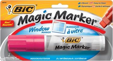 BIC Jumbo Magic Marker for Windows w/ Chisel Tip - Pink