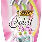 Bic Soleil Bella Four Blades Sun-Twist Scent - 3 Shavers