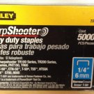 "3 Pack - Stanley TRA704-5C Sharpshooter Heavy Duty Staples 1/4"" Narrow Crown 5000 Ct Box"