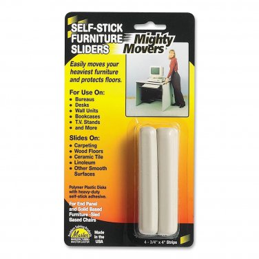 """Master Caster Mighty Movers Self-Stick Furniture Sliders - .75""""X4"""" Strips 4-Pack"""