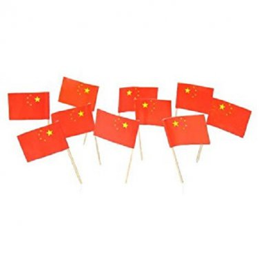 """100 China Chinese Mini 2.5"""" Flag Appetizer & Party Decoration Toothpicks"""