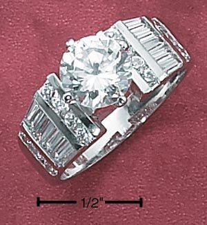 CUBIC ZIRCONIA RING 7.5 MM (SR-1775)