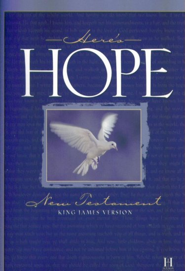 Here's Hope New Testament King James Version KJV PB New Easter Gift