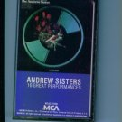 Andrew Sisters 16 Great Performances Music Cassette MCA Records