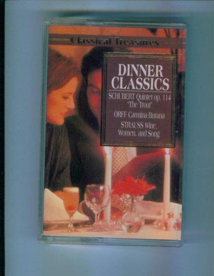Classical Treasures Dinner Classics Cassette Classical Music