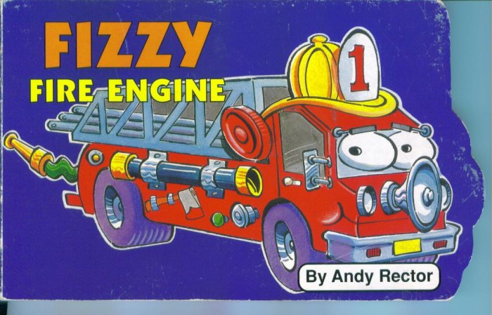 Fizzy Fire Engine Chip Board Children's Book Andy Rector