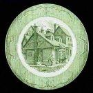 The Old Curiosity Shop Green Dinner Plate Old Vintage Dinnerware