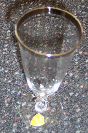 "Service For Four Tiffin Franciscan Sarita Crystal Glasses Stemware - Juice 6 1/8"" Rare"