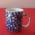 TIENSHAN FOLK CRAFT Hearts Blue Coffee MUG Cup