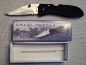 FROST CUTLERY ~ FLYING FALCON II Special Forces Folding ...