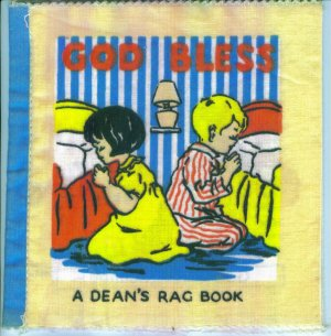 Vintage Baby Books ~ God Bless ~ Dean's Rag Book ~ Made in Gt. Britain ~ Cloth Children's Book box3