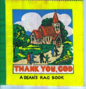 Vintage Baby Books Thank  You God Dean's Rag Book Made in Gt. Britain Cloth location3