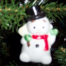 Vintage Homco Porcelain Snowman Ornament Old Ornaments ORN4 box3