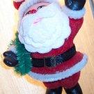 Vintage Plasitc Flocked Santa Ornament Old Ornaments ORN8 location3