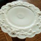 Westmoreland Paneled Grape Cake Plate Collectible Milk Glass Milkglass