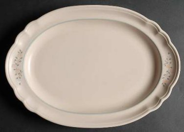 Pfaltzgraff 14 3/4 Oval Serving Platter Remembrance Retired Dinnerware Dishes location149