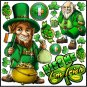St. Patrick's Day Reusable Decal Stickers