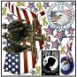 Patriotic USA Reusable Decal Stickers