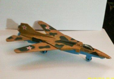 1/100 Tootsie Toy Diecast Mig-27 Jet Fighter